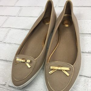 079b6c47dec95c Tory Burch Shoes - NEW Tory Burch Dakota Canvas Sneaker 10 Khaki Gold